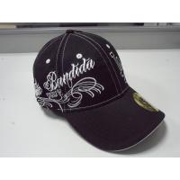 Buy cheap Spandex personalised baseball caps embroidered Flexfit Sandwich Brim from wholesalers