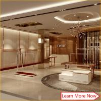Buy cheap Electroplating rose S/S neat shinning white retail womens clothes ladies shop decoration design,clothing showroom design from wholesalers