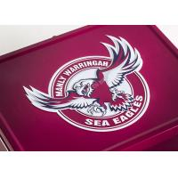 Buy cheap Healthy Large Lunch Tin Box Printing Football 216 * 165 * 102H Mm FDA SGS from wholesalers