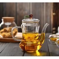 Buy cheap Hot Selling Useful Christmas Gift Relax Blooming Tea Clear Glass Arabic Teapot from wholesalers