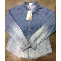 Buy cheap wholesale 40,000 pcs Retro vintage faded denim shirt stock ,2014 denim shirt tendency from wholesalers