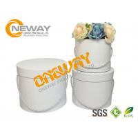 Buy cheap Cardboard Custom Printed Gift Boxes Round Flower Gift Box With Cap from wholesalers