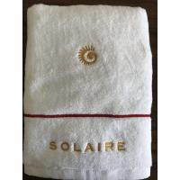 Buy cheap hotel towel sets 100% cotton with embroidery 5 star hotel logo from wholesalers