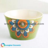Buy cheap 5.3'' large flower handpainted ceramic noodle bowl from wholesalers