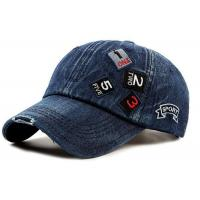 Buy cheap Blue Cotton Women'S Fitted Baseball Caps , Casual Snapback Hats 6 Panel Style from wholesalers