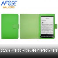 Buy cheap Folio Wallet PU Leather Sony Ereader Cover Green With Magnetic Closing from wholesalers