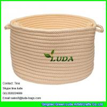 Buy cheap LUDA small round storage bin handmade hanging storage basket from wholesalers