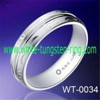Buy cheap TUNGSTEN WEDDING RINGS grooved center&grit blast white tungsten rings wedding bands men's rings from wholesalers