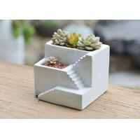 Buy cheap Custom Cement Pot Molds Silicone Concrete Square Vase Mold Cement Plant Pot Mould from wholesalers