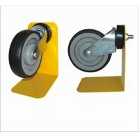 Buy cheap Black Trolley Locking Caster Wheels With 1 Year Warranty , Shopping Trolley Wheels from wholesalers