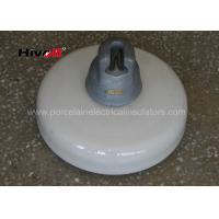 160KN Porcelain Suspension Insulator / White Porcelain Insulators With Zinc Sleeve