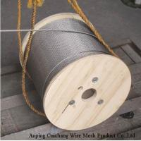 Buy cheap 6*19 Professional Aircraft Wire Rope Stainless Steel High Tension Length Customized from wholesalers