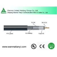 Buy cheap Factory best price coaxial type communication cable for cctv camera cable 1.02mm 75ohm RG6 product