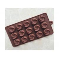 Buy cheap Inovative Silicone Chocolate Molds Freezer Safe Fifteen Cavities For Coffee Shop from wholesalers