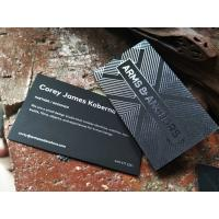 Buy cheap Black Card Stock Black Foil Stamped Business Cards Printed Visiting Name Cards from wholesalers