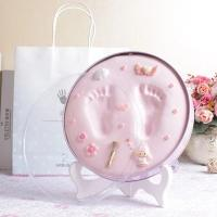 Buy cheap Home Decoration Baby Keepsake Tin Box For Kids Hand / Footprint Frame from wholesalers