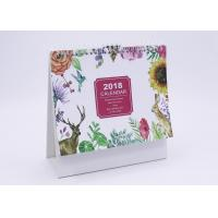 Buy cheap Paper Desk Calendar With Transparent Plastic Cover , 300gsm Business Desk Calendars from wholesalers