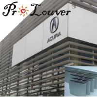 Buy cheap fixed vertical exterior aluminum sun louver from wholesalers