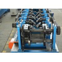 Buy cheap CZ Shapes Interchangeable Purlin Roll Forming Machine 8-12 M / Min With PLC product