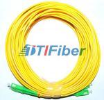 Buy cheap Telecommunication SC/APC-SC/APC Singlemode 9/125 ,  G652D Duplex Fiber Patch Cord 10M from wholesalers