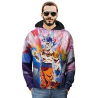 Buy cheap SGS Custom Anime T Shirts Round Neck Hoodie With Front Pocket /  3D Printed Sweatshirts from wholesalers
