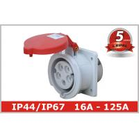 Buy cheap IP44 IP67 Panel Mounted Industrial Socket 16A 32A 63A 125A Power from wholesalers