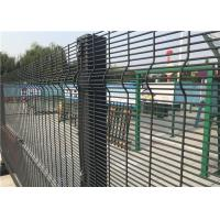 Buy cheap Powder Coated Welded Wire Mesh Fence Panels For Prison With Square Hole from wholesalers