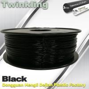 Buy cheap Twinkling 3D Printer Filament 1.75mm Black Filament 1.3Kg / Roll Flexible 3d Filament product