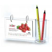 Buy cheap Desktop A5 Acrylic Calendar Pen Holder Frames L Type For Home from wholesalers