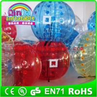 Buy cheap QinDa Inflatable bubble football soccer,inflatable body bumper ball for adult from wholesalers