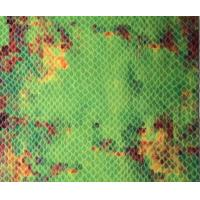 Buy cheap Polyvinyl  Chloride Green Snakeskin Print Fabric Leather With Natural Pattern product