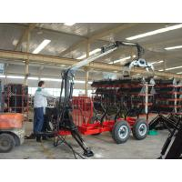 Buy cheap Woodworking Forestry Machinery Farm Grapple Log Loading Trailer Timber Trailer with Crane from wholesalers