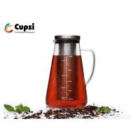 Buy cheap Transparent Airtight Cold Brew Iced Coffee Maker 1000ml Customized Logo Microwave Safe from wholesalers