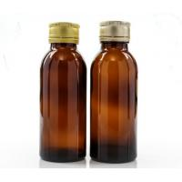 Buy cheap 100ml Amber Glass Oral Liquid Bottle With Colors Metal Cap,Syrups Bottle product