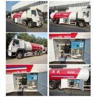 Buy cheap high quality 6x4 HOWO 25300 liters gas cylinder transportation lpg tanker truck for sale, howo lpg gas dispenser truck from wholesalers