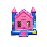 Buy cheap Newest fashion blue and pink color Inflatable cartoon printed Jumper bouncer house For Kids Toys from wholesalers