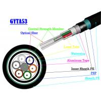 Buy cheap Multimode Fiber Optic Armoured Cable GYTA53 GYTS53 Direct Buried Fiber Optic Cable product