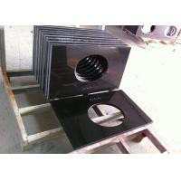 Custom Black Granite Bathroom Vanity Tops / Granite Lavatory Tops