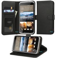 Buy cheap HTC Desire 828 wallet case,black shockproof HTC Desire 828 premium folio pu wallet case from wholesalers