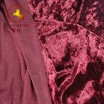 Buy cheap china factory weft knitted velvet/velour/crush velvet for garment and chair cover from wholesalers