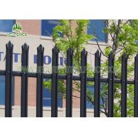 Buy cheap 2400mm High Galvanized Steel Palisade Fence Panels D / W Shape Free Sample from wholesalers