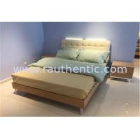 Buy cheap Steady wood bed frame with Metal supporting legs with Comfortable upholstered headboard from wholesalers