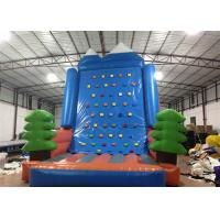 Buy cheap Amusement Park Inflatable Rock Climbing Wall Sports Games Straight inflatable climb wall with the pine trees from wholesalers