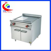 Buy cheap Commercial Electric Griddle Half Flat And Half Grooved Induction Griddle With Cabinet for Restaurant from wholesalers