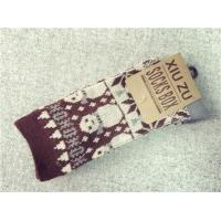 Classic christmas snowman patterned design winter acrylic thick hosiery for female