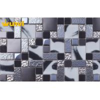 Buy cheap OEM Pressure Resistant Dark Grey Kitchen Tiles With Glass / Stainless Steel from wholesalers