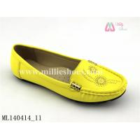 Buy cheap New style yellow women casual shoe hot selling loafers lady moccasins (ML140414_11) from wholesalers