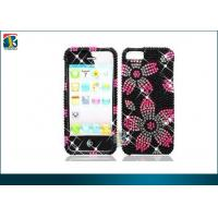 Buy cheap Flower Rhinestone Crystal Case, Sparkling 3d Flower Diamond Pearl Hard Case Cover For Iphone 5 from wholesalers