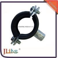 China CEPDM Rubber Pad And Steel Zinc Plated Cast Iron Pipe Pipe Ring Clamp Rubber Line Clamp on sale