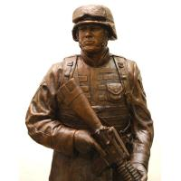 Buy cheap Custom Military Sculpture Life Size Bronze Marine Soldier Memorial Statue from wholesalers
